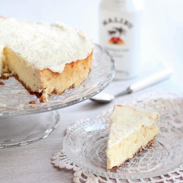 Malibu rum cheesecake