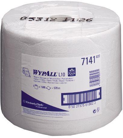 Lavetele WYPALL® L10 sunt suficient de rezistente pentru stergeri usoare in industriile, cateringl, laboratoare, ansamblare de componente mici si zonele de servicii adresate populatiei. Cod produs: KC-7104. Culoare alb, 200 portii/rola. Dimensiuni: 38 x 23,5,  Dozator compatibil: KC-7040. Pret 177 lei.