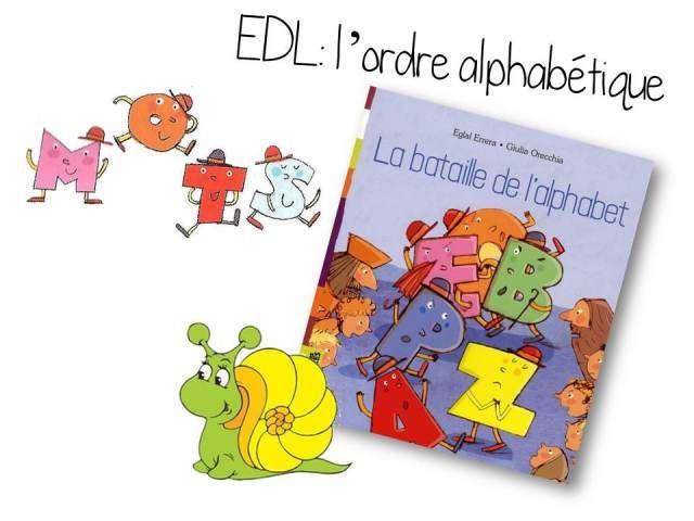L'ordre alphabétique à partir d'un album: La bataille de l'alphabet