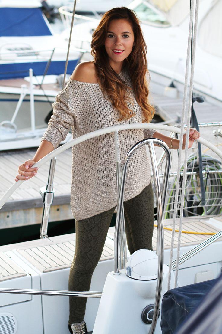 Sneakers borchiate: il mio look autunno 2013 in barca a vela