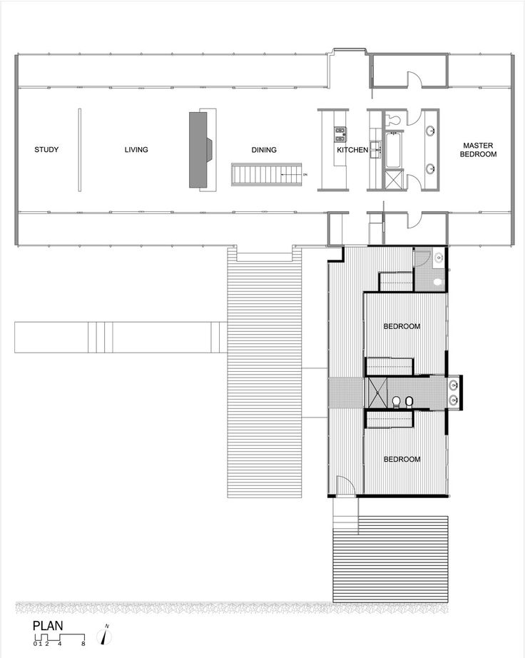 Awesome architectural L-Shaped Floor Plan
