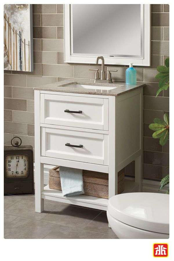 Have a small bathroom? Running out of room for storage? This vanity is the best of both worlds - it is the perfect size for a small bathroom and has lots of room for storage