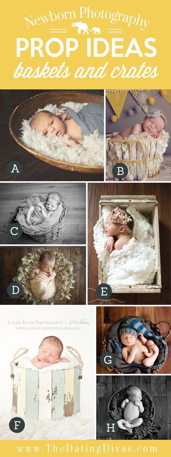 Adorable Newborn Photography Prop Ideas using Baskets