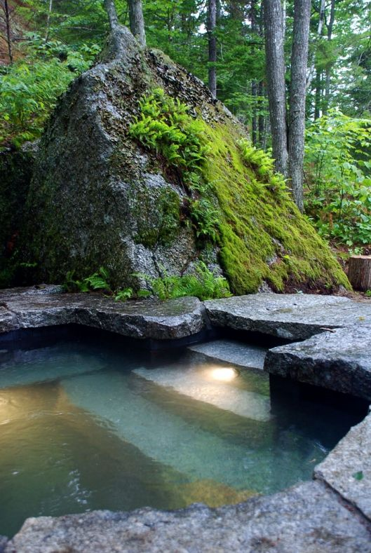 weathered granite hot tub . Freshwater Stone. Wherever this is, I'm going.