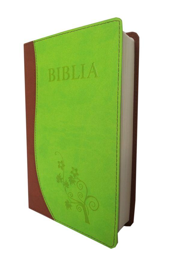 Biblia NTR (Biblia Noua Traducere), coperta imitatie piele, maro | verde