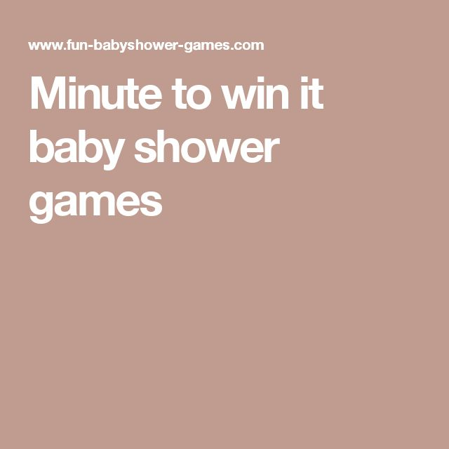 minute to win it baby shower games