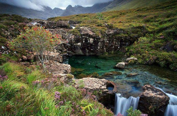 Isle of Skye, Scotland..Cullin Mountain in background