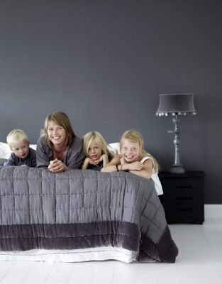 Fabulous grey bedroom scheme from Tine K Home