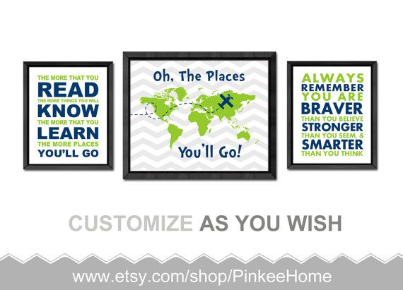 Dr Seuss Wall Decor 182 best dr seuss nursery - oh the places you will go - world map