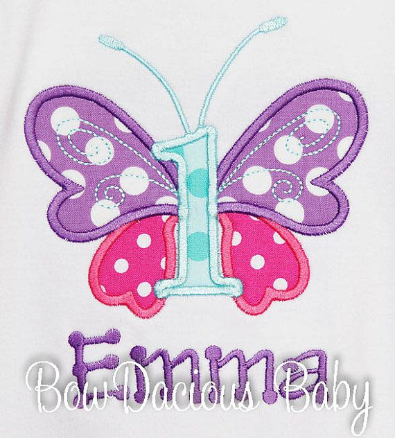 Girl's Butterfly Birthday Shirt Butterfly Shirt by bowdaciousbaby