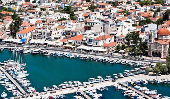 The town of Aegina