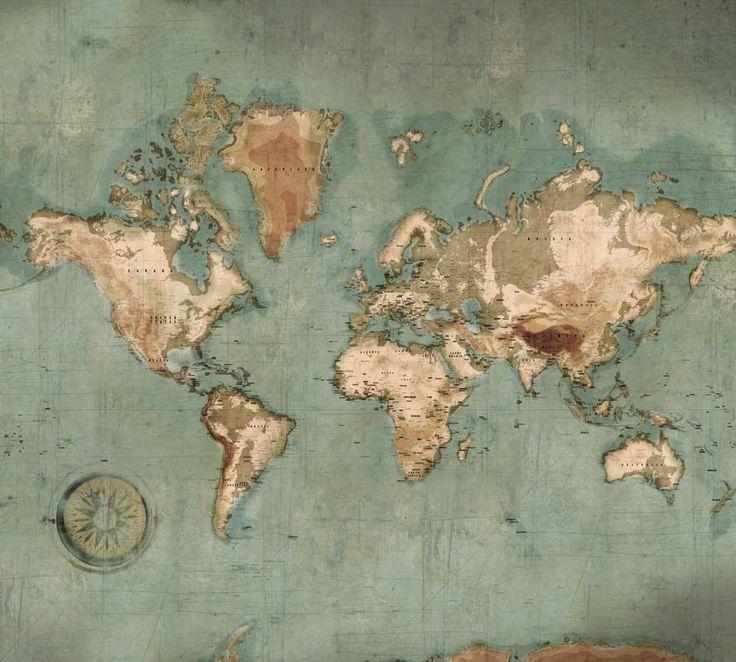 Assez Les 25 meilleures idées de la catégorie Carte du monde vintage sur  WG15