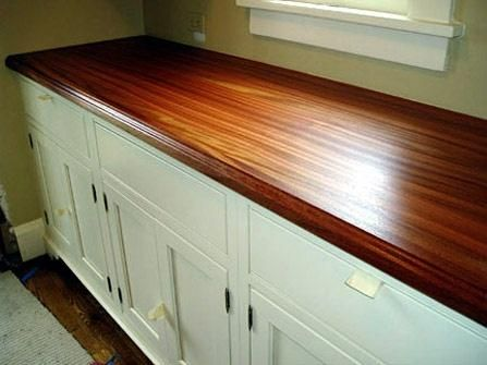 yummy wood plank countertops -- thick tiger wood