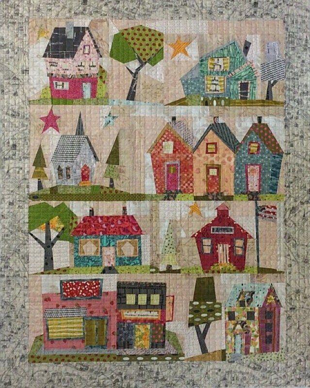 My Kinda Town Quilt Pattern (paper piecing) by Laura Heine, Fiberworks, Billings, MT