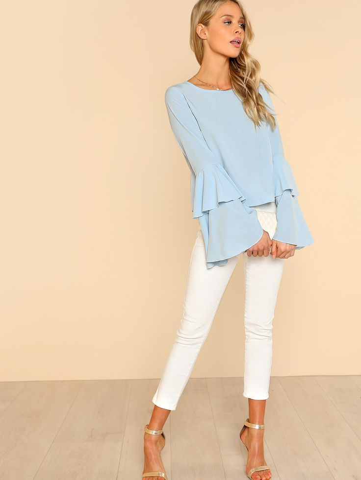 Shop Layered Bell Sleeve Top
