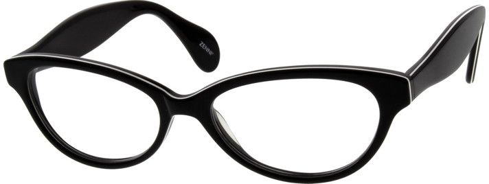Women's Black 6397 Acetate Full-Rim Frame | Zenni Optical Glasses-3EQLuICF