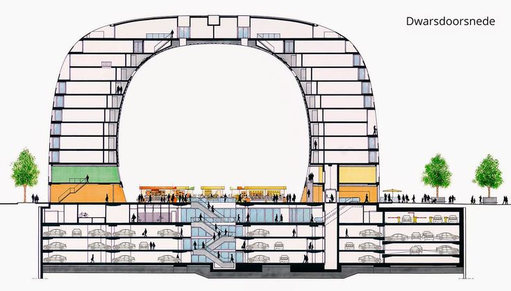 02-Section-Markthal-Apartments-Market-Shops-and-Catering-Parking-www-designstack-co
