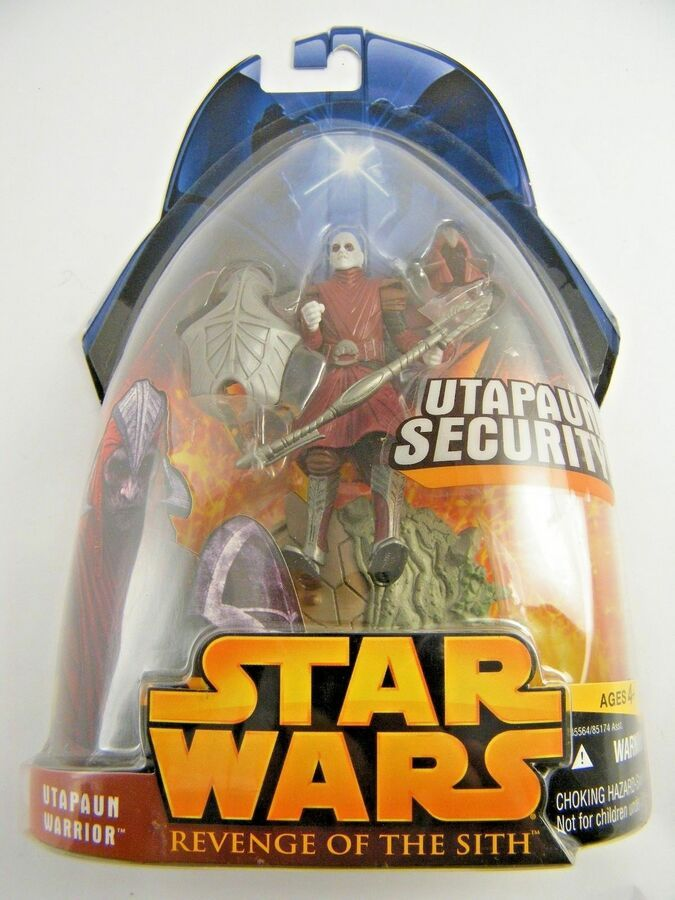 SEE PHOTOS! MOC STAR WARS ROTS CARDED FIGURES 2005