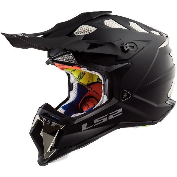 Ls2 Subverter Mx470 Helmet Solid Matt Black Helmet Motocross