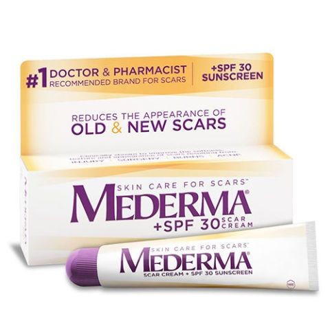 Mederma Scar Cream Plus Mederma scar treatments have a reputation for results. This advanced acne scar cream protects skin from the sun, so dark spots soften and become less noticeable. No wonder it's a pharmaceutical fave and doctor-recommended product.
