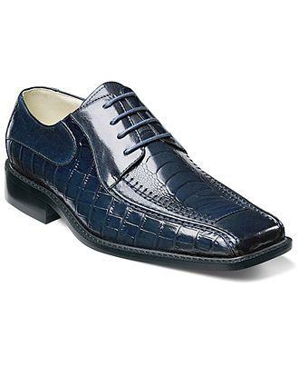Stacy Adams Shoes, Santino Animal Print Oxfords - Mens Shoes - Macys $65