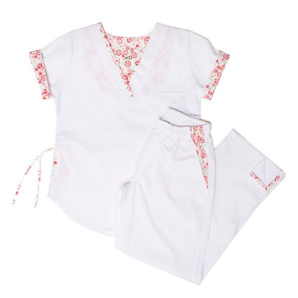 Lola Poly Blanco mandala flores - Oh Wear