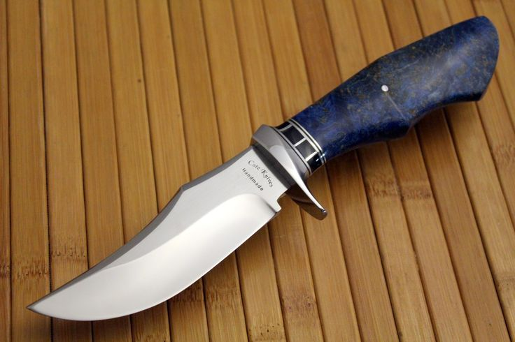 CPM154 stainless steel with dyed & stabilized black ash burl,