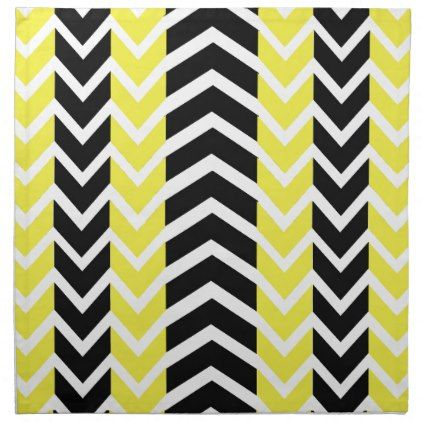 Yellow and Black Whale Chevron Cloth Napkin - kitchen gifts diy ideas decor special unique individual customized