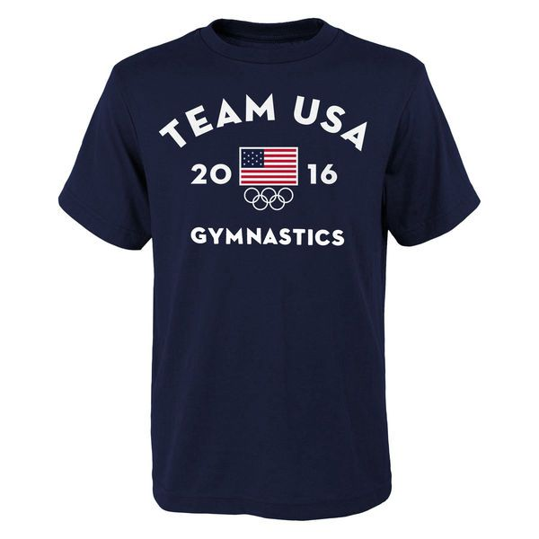 Team USA Gymnastics Youth Very Official National Governing Body T-Shirt - Navy - $16.99