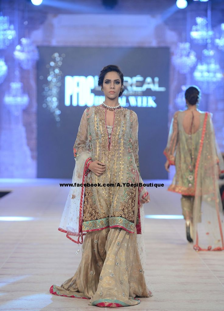 Color: Off-White     Fabric: Banarasi Crinkle Chiffon     Features charming and beautiful embellishment accent the neckline, front, sleeves and hemline     Full length sheer sleeves     Deep V neckline     Concealed back zip closure     Lining inside     Edges finished For Order  Inbox Messege https://www.facebook.com/A.YDesiBoutique Call Us: +92 331 2319665 WhatsApp & Viber