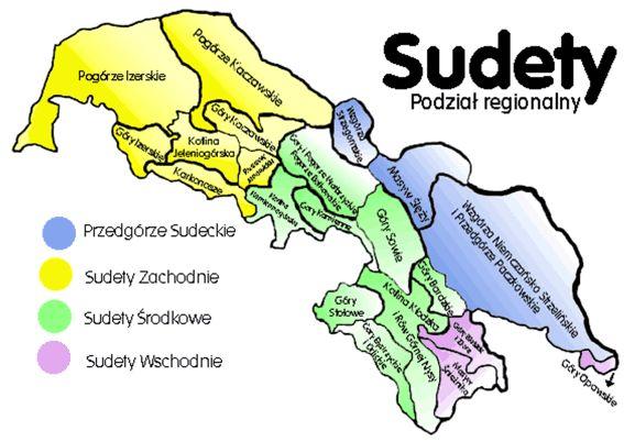 mapa sudetów