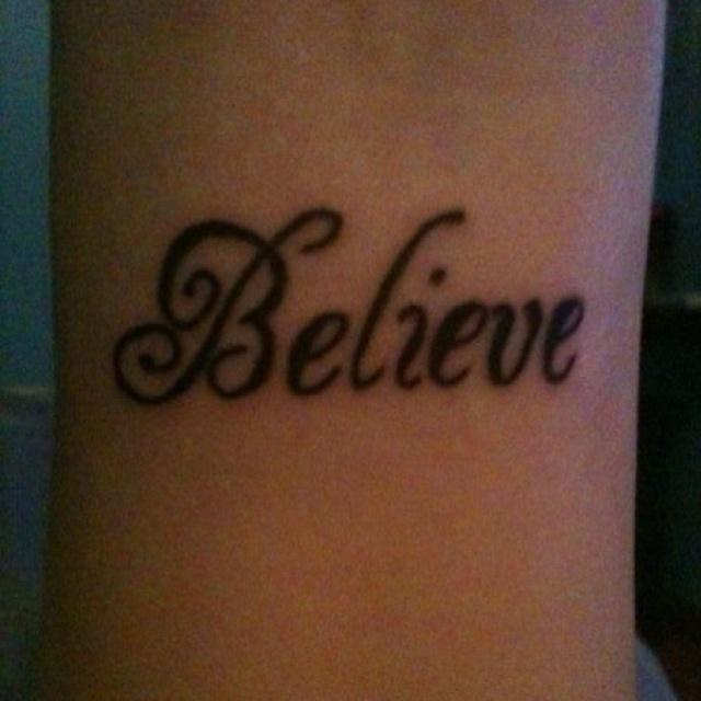 Wrist tattoo, I like the font
