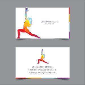 Yoga Classes Business Card Yoga Class Cards Business