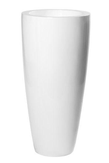 Hoogglans bloempotten fiberstone - Artiplant - moderne oersterke en onderhoudsvrije plantenbakken voor binnen en buiten. Ronde bloempotten, vazen, schalen.