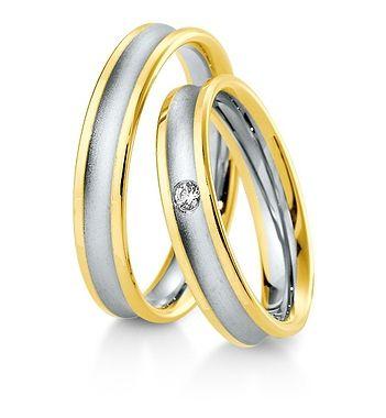 Breuning Trouwringen | Inspiration collectie gouden ringen | 4,5mm briljant 0.04ct verkrijgbaar in 8,14 en 18 karaat | 48041790 / 48041800 OOK in wit geel en rood goud verkrijgbaar of in 2 kleuren goud #trouwringen #breuning #trouwen