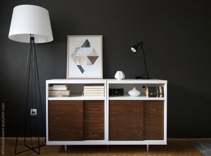 Ikea Besta Hack Mid Century Modern Cabinet DIY Idea For Living Room With Astorp Lamp Stand