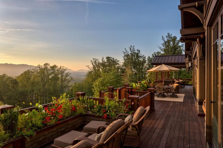 What a beautiful view to wake up to! The outdoor living space of this home's back deck can't be beat.