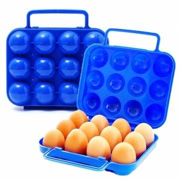 FREE SHIPPING! Portable Plastic Carry 12 Eggs Folding Box Case Container Storage Holder SKU244592