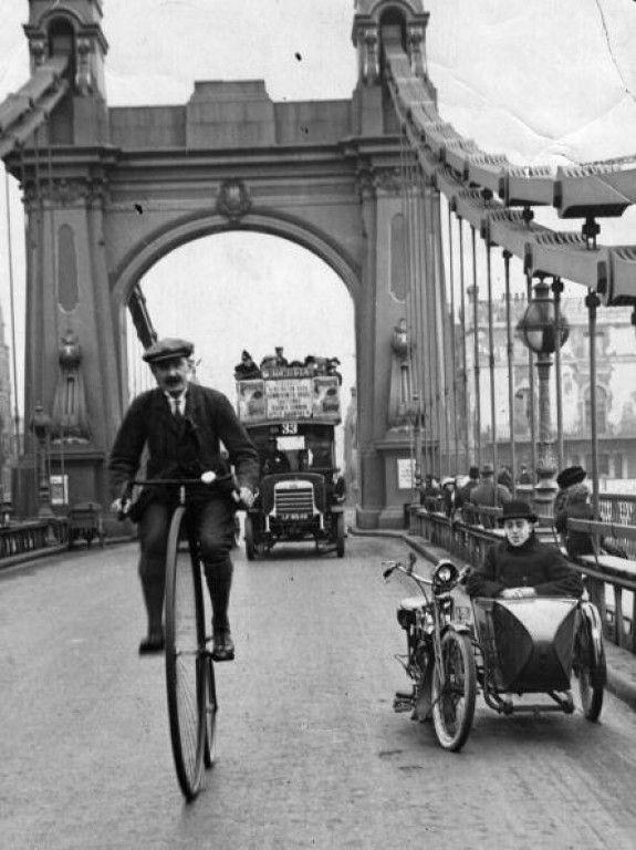 Over Hammersmith Bridge ~ London ~ Circa 1888