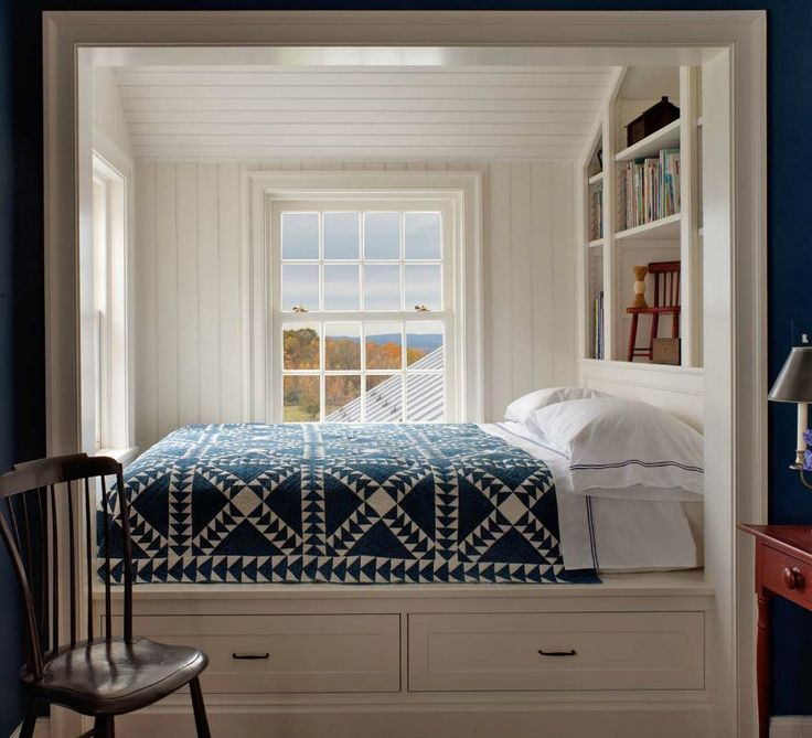 Farmhouse bed nook.