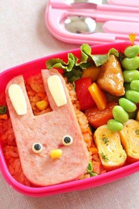スパム®うさぎのケチャップライス弁当 by 簡単手抜きママ ...