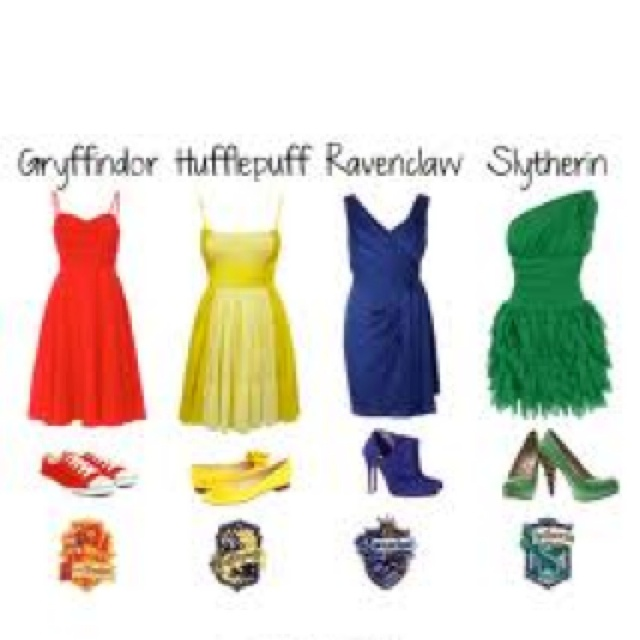 Hogwarts houses inspired outfits