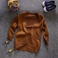 Wish | New Baby Boys Long Sleeve Woolen Knitted Cardigan