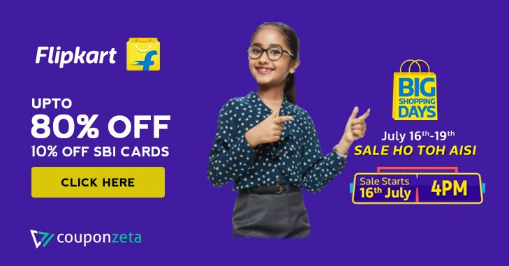 c26e3f7e60ce7b The Big Shopping Days Are Back on Flipkart From 16th - 19th July 2018. Get