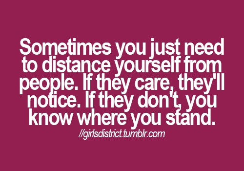 Yep...........and I guess, I know where I stand.........alone