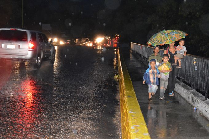 Se registraron fuertes precipitaciones en varios municipios carabobeños