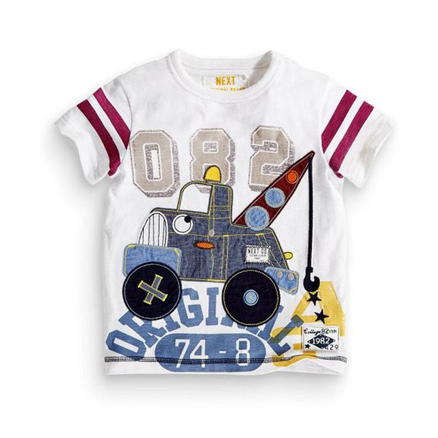 Good price 1-7Y Boys Next T-shirt Kids Tees Baby Boy shirts Children sweater Short Sleeves 100% Cotton Fun Pattern High Quality GAP just only $16.00 with free shipping worldwide  #boysclothing Plese click on picture to see our special price for you