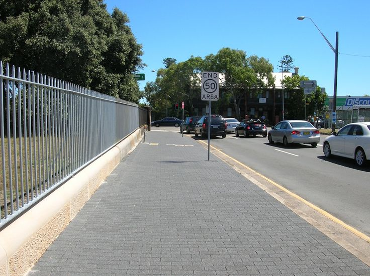 HydroSTON permeable concrete pavers used for a footpath at York Road, Bondi Junction NSW, Australia.