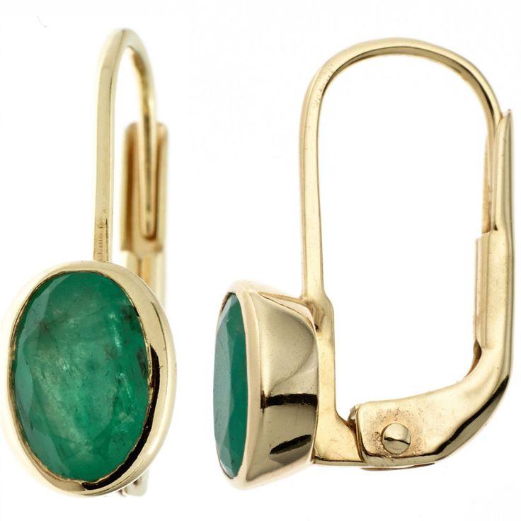 Boutons oval 333 Gold Gelbgold 2 Smaragde grün Ohrringe Ohrhänger Goldohrringe http://www.ebay.de/itm/Boutons-oval-333-Gold-Gelbgold-2-Smaragde-gruen-Ohrringe-Ohrhaenger-Goldohrringe-/152608548396?ssPageName=STRK:MESE:IT