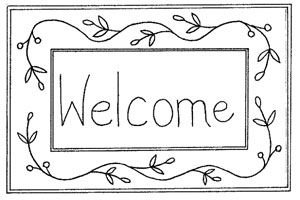 welcome sign coloring pages - photo#25